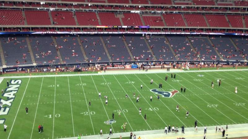 NRG Stadium, vak: 511, rij: K, stoel: 1