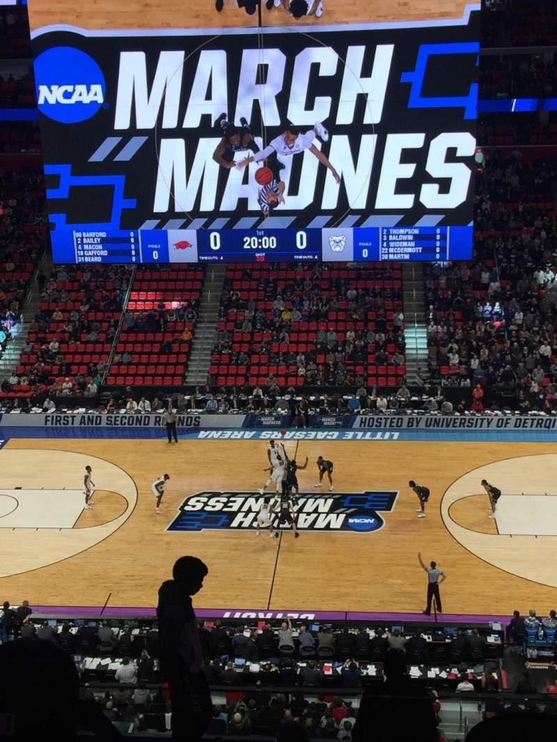 Little Caesars Arena, vak: M28, rij: 4, stoel: 3