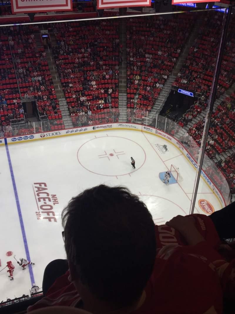 Uitzicht voor Little Caesars Arena Vak G26 Rij 2 Stoel 7