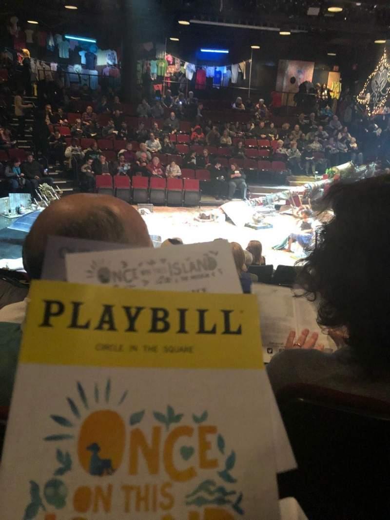 Circle in the Square Theatre, vak: Orch, rij: E, stoel: 214