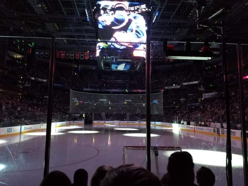 Nationwide Arena, vak: 109, rij: D, stoel: 9