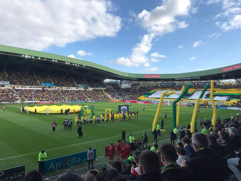 Uitzicht voor Stade de la Beaujoire Vak Presidentielle Rij O Stoel 205