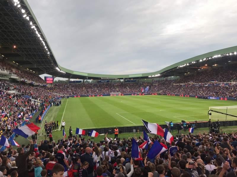 Uitzicht voor Stade De La Beaujoire Vak E2F Rij ZC Stoel 221