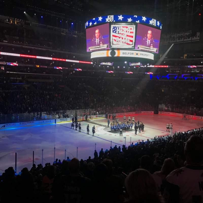 Staples Center, vak: PR8, rij: 7, stoel: 10